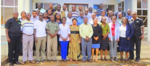MEWNR Process drivers drawn from all the Divisions of the Ministry pose for a group photo at GTI, Embu.
