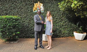 British High Commissioner Jane Marriott receives Environment PS Dr. Chris Kiptoo at Her residence in Muthaiga, the two officials discussed on possibilities of partnership in different sectors of the environment