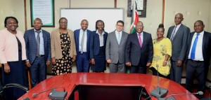 A group Photo of the CS Keriako Tobiko , Ministry of Environment technical staff and the visiting UNDP team.