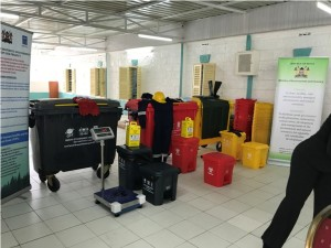 Some of the equipments acquired through UNDP at a cost of Ksh 12 million. PS Dr. Kiptoo urged Kenyans to safely dispose the masks being used during COVID-19 to avoid re-infections.