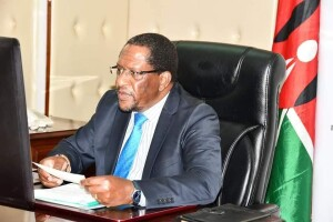 Environment and Forestry CS Keriako Tobiko during the virtual meeting
