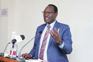 Environment PS Dr. Chris Kiptoo speaks during the launch of the Multi-Sectoral Committee on Sound Chemical Management, he emphasized on the need for proper chemical disposal to avoid negative environmental and human effects