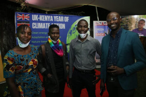 Winners of the Climate changemakers photography competition  Billy Billima, Dennis Okangi,Frederick Leica and Rose Mokeira.