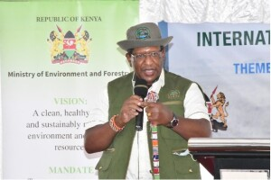 Environment CS Keriako Tobiko speaking during the event, the CS underscored the need for conservation  of biodiversity saying it forms basis of humanity.