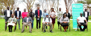 CS Environment and Forestry Keriako Tobiko sitted at the center posses for a group photo during an official launch of, 'Strengthening Planning (SNAP) Project in Kenya